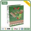 Weihnachtstagesschönes grünes Sockepatten-Geschenk-Papierbeutel