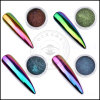 Glänzendes Chrom-Chamäleon-Spiegel-Pigment-Nagel-Kunst-Material-Puder