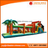 Campo de jogos inflável do obstáculo da selva dos brinquedos das crianças ao ar livre (T8-453)