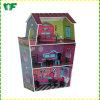Casa de boneca de madeira educacional engraçada Multi-Function para o pré-escolar