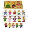 Dress di legno su Toy (3 orsi) (80038)