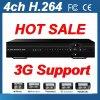4CH радиотелеграф DVR CCTV 3G H. 264 передвижной