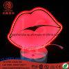 O UL 23cm do diodo emissor de luz beija-me o sinal de néon da lâmpada leve acrílica da noite para a decoração da tabela da mesa