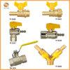 Tope de latón de válvula de bola válvula de gas (TF-2620)