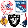 高密度NFLのフットボールのロゴのPlastiolの熱伝達の印刷の製造業者