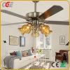 Ventilateur de plafond ventilateur électrique lustre en verre de lumière Ventilateur pendre le style arabe Ventilateur de plafond industriel léger de ronde