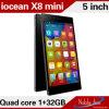 Android 4.4 MT6582 1.3 GHz Quad-Core Mali-400 Iocean X8 Mini Teléfono móvil