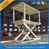 Coche de tijera doble plataforma hidráulica de elevación para Casa garaje o aparcamiento