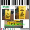 Placa de precaução em plástico ondulado Placa de advertência