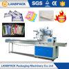工場価格の自動食事用器具類のナプキンの流れの枕パッキング機械