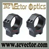 Vettore Optics Tactical 34mm Low Weaver Scope Mount Rings sul laser Flashlight di 21mm Weaver Picatinny Rail Scope