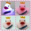 PVC Rubber Duck com diodo emissor de luz Light, diodo emissor de luz Light acima de Princess Duck, diodo emissor de luz Flashing Rubber Duck