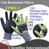 13G PE/Стекловолокно вязаные рукавицы с нитриловые гладкого покрытия и TPR назад/ EN388: 4543