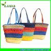 Bolso mezclado de moda de la playa de la paja del trigo de los colores