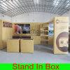 Soporte modular de exposición de cabina portátil verde personalizado con paneles Slatwall