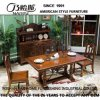 Mesa de jantar de madeira de estilo americano para móveis de casa (AS835)