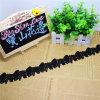 Merletto di nylon di immaginazione della guarnizione del ricamo del poliestere del merletto del fiore del commercio all'ingrosso 4.5cm del ricamo di riserva di larghezza per l'accessorio degli indumenti & tessile & decorazione domestiche