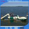 Trampoline inflável dos jogos da água de mar com gotas da corrediça e da água para a venda