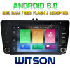 Carro DVD do Android 6.0 do núcleo de Witson oito para Skoda Octavia