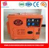 Тепловозным тип 6kw молчком 7500t генератора энергии охлаженный воздухом