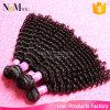 De onverwerkte Maleise Maagdelijke Diepe Krullende Golf van het Haar/vast de Krullende Maleise Inslag van het Menselijke Haar