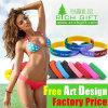 Pulsera de silicona de colores personalizados baratos para el deporte Grupo regalos para empresas