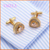 Men를 위한 VAGULA Fashion Rhinestone Gold Plated Cuffs