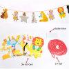 Cute Carton fête d'impression Décoration chaîne Die-Cut papier bannière du Pavillon / Parti de la décoration de la bannière du pavillon