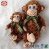 Giocattolo molle sveglio di qualità della peluche dei capretti degli occhi azzurri della scimmia del Brown