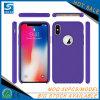 Caisse colorée de téléphone de silicones de surface lisse pour l'iPhone X