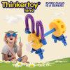 Cute Dog Model Education Toy para crianças brinquedos de blocos de plástico