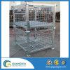 Euro- recipiente galvanizado Stackable do engranzamento de fio para o armazenamento no tipo de levantamento