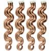 Лента в волос кожи выдвижений 20PCS выдвижениях волос ленты естественных черных Remy человеческих волос бразильских прямых Weft белокурых