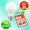 lumière d'ampoule de 3W LED avec le logement en plastique thermique 0.99USD