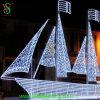 Грандиозное White Sailboat Sailing Ship Ornament Light для Festival Decoration