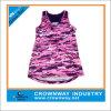 여자 Spandex 또는 Polyester Custom Sport Wear Running Active Top, Gym Stringer Singlet