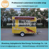 Внешний вид горячих сбываний трейлера доставки с обслуживанием быстро-приготовленное питания желтый