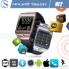 2015 New Smart Bluetooth 4.0 IP67 Cellphone Watch with 2.0MP Camera (W2)