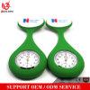 Cubiertas del silicón del Pin 10 de la broche del reloj del doctor Portable Medical Nurse Quartz de relojes Pocket del Fob de las enfermeras Yxl-949 con colores al azar del clip