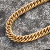 catene a maglia cubane dell'oro dell'acciaio inossidabile 316L Mjcn020