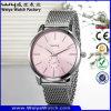 Relojes ocasionales de las señoras del cuarzo de la correa de cuero del reloj de OEM/ODM (Wy-066B)