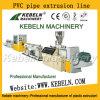 Chaîne de production en plastique d'extrusion de pipe de Mousse-Faisceau-Couche de galerie pour câbles de PVC UPVC