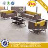 La Europa moderna metálica de acero Diseño sofá de cuero de la Oficina de espera (NS-KJ803S)