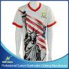 カスタムデザインの完全な昇華印刷のチーム・スポーツのTシャツ