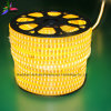 黄色いカラー120LEDs SMD2835 220V IP65 LEDロープライト