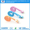 Multi-Color Micro USB plana con cable micro USB AM