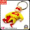 3D kundenspezifisches Supermann-Form weiches Firmenzeichen Belüftung-Keychain