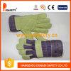 Ddsafety 2017 gelbe Kuh-aufgeteilter lederner Handschuh mit geklebter Stulpe