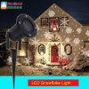 Jardín del copo de nieve LED al aire libre luces de Navidad a prueba de agua del paisaje del proyector ligero de la fiesta