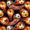 [0.5m larges] énergie hydraulique de dessin animé de modèle du football de Kingtop plongeant le film hydrographique imprimable d'impression de transfert de l'eau avec du matériau Wdf9073 de PVA
